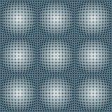 与球状形状的被加点的栅格 库存照片