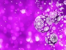 与球的典雅的圣诞卡。 EPS 8 免版税图库摄影