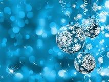 与球的典雅的圣诞卡 EPS 8 免版税库存照片