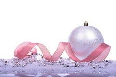 与球的圣诞节背景 库存图片