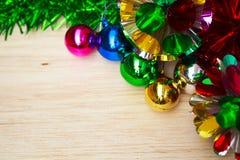 与球的圣诞节装饰。 图库摄影