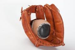 与球的棒球手套 库存照片