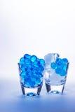 蓝色玻璃 库存照片