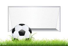 与球的足球目标 库存例证