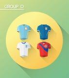 与球衣的世界杯小组d 库存例证