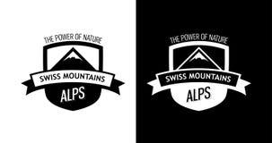与瑞士山的象征 库存图片