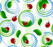 与瓢虫的无缝的模式 免版税图库摄影