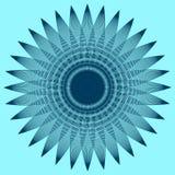 与瓣的圆的图表 库存例证