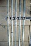 与瓦片的管道线路 库存照片