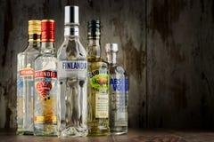 与瓶的构成伏特加酒 图库摄影