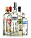 与瓶的构成伏特加酒 库存照片