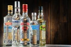 与瓶的构成伏特加酒 免版税库存照片