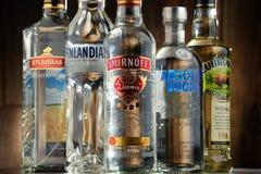 与瓶的构成伏特加酒 库存图片