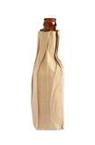 与瓶的纸袋 免版税库存图片