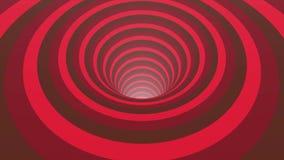 与生气蓬勃的催眠隧道的抽象背景从五颜六色的焦糖、玻璃或者塑料 螺旋形状彩虹颜色 向量例证