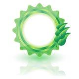 绿色生物标签 库存图片