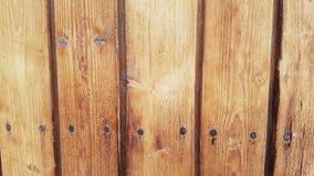 与生锈的钉子的木盘区-纹理 免版税库存图片