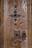 与生锈的铁的老门 库存图片