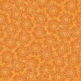 与用小点做的花卉形状的无缝的传染媒介样式背景 库存例证