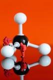 与甲烷一个分子模型的式样化工队  库存照片