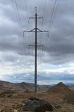 与电塔的风景 免版税库存照片