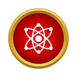 与电子象,简单的样式的原子 皇族释放例证
