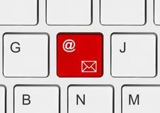 与电子邮件关键字的计算机键盘 免版税库存照片