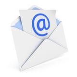 与电子邮件的信封 库存照片