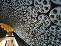 与电影动机的地铁(管,地下)门面在洛杉矶,好莱坞驻地 免版税库存照片