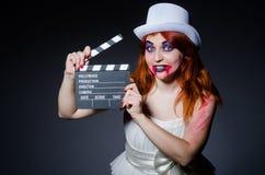 与电影的撒旦万圣夜概念 免版税库存照片