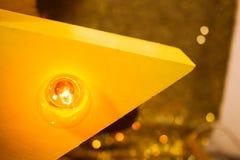 与电灯泡光的木星 免版税图库摄影