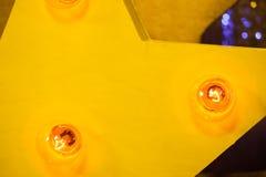 与电灯泡光的木星 库存图片