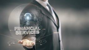 与电灯泡全息图商人概念的金融服务 股票录像