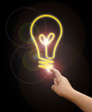 与电灯泡的现有量 免版税图库摄影