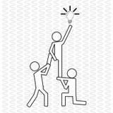 与电灯泡设计,传染媒介例证的配合 免版税库存图片