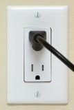 与电缆的电子出口 免版税库存照片