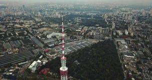 与电视塔的都市风景 影视素材