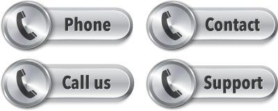 与电话标志的网元素 免版税图库摄影