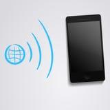 与电话的互联网WLAN同步 图库摄影