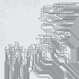 与电路板纹理的抽象背景 免版税图库摄影