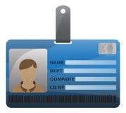 与男孩的ID卡片 库存照片