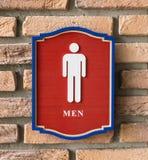 与男性标志的休息室标志 图库摄影