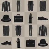 与男性衣裳的无缝的样式 向量例证