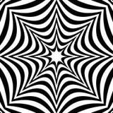 与畸变作用的辐形几何图表 不规则的radia 库存例证