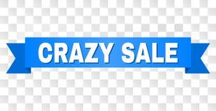 与疯狂的销售说明的蓝色条纹 库存图片