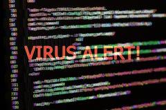 与病毒戒备的节目代码 增加的小故障作用 库存照片