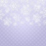 与白色发光的雪花的圣诞节背景 免版税图库摄影