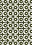 与白色和绿色重复的抽象无缝的传染媒介背景 库存图片