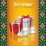 与白色圣诞节tr的抽象难看的东西背景 免版税图库摄影