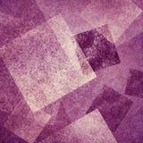 与白色在当代现代艺术分层堆积的金刚石和方形的形状的抽象桃红色和紫色背景设计 向量例证